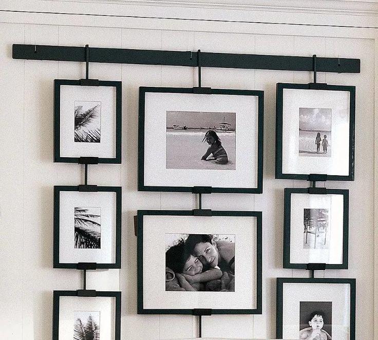 оригинальное оформление стен фотографиями что женщина находилась
