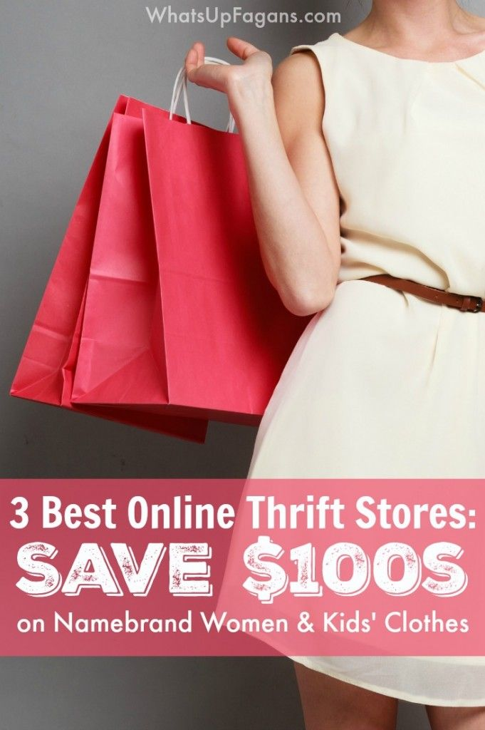 I didn't know about these three online consignment shops that sell thrift store used clothing and toys for women and kids! This is such a great money saving tip!! I know where I'm shopping for clothes from now on.