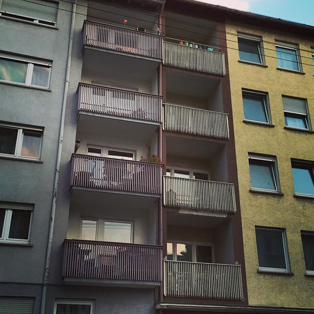 Where do you live?  #home #livingquarters #highrise #flats #balcony #Stuttgart #0711 #Germany