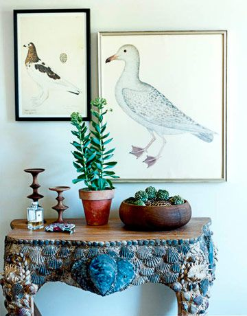 LOVE THE TABLE! Sea-Inspired Details