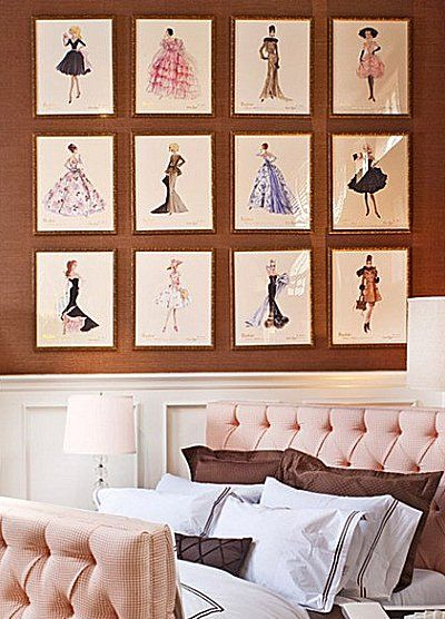 Shed Wood Idea: Fashionista Diva Style bedroom decorating runway theme bedroom ideas