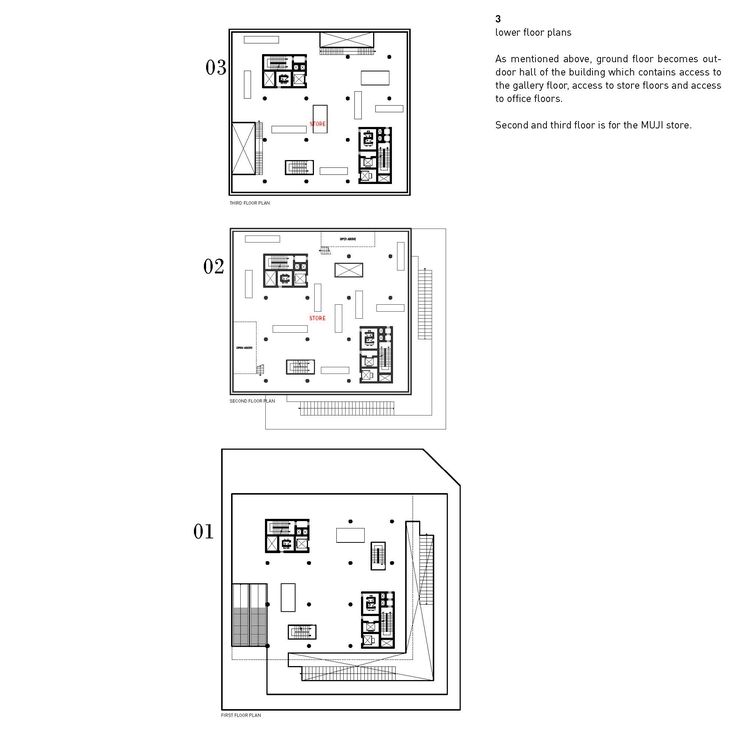 lower floor plans_ground floor to the third