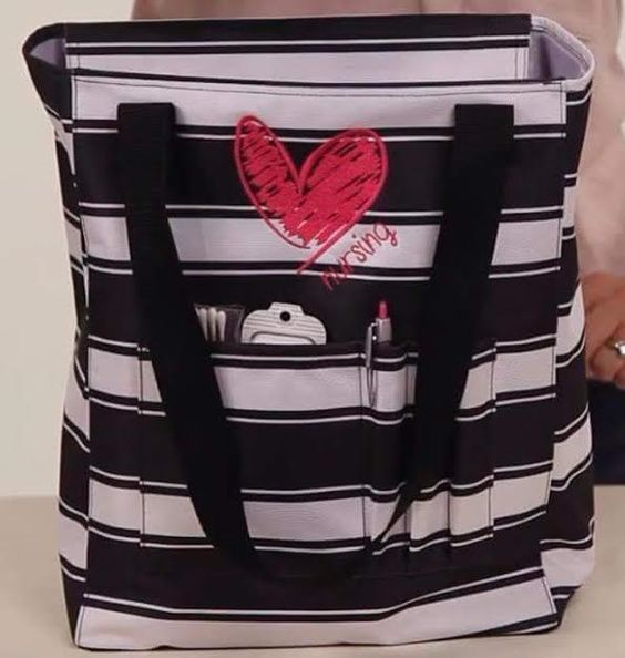 Show Your I Nursing Icon With The New Tall Organizing Tote By Thirty One Available In Five Fun Prints Personalize It To Make Yours