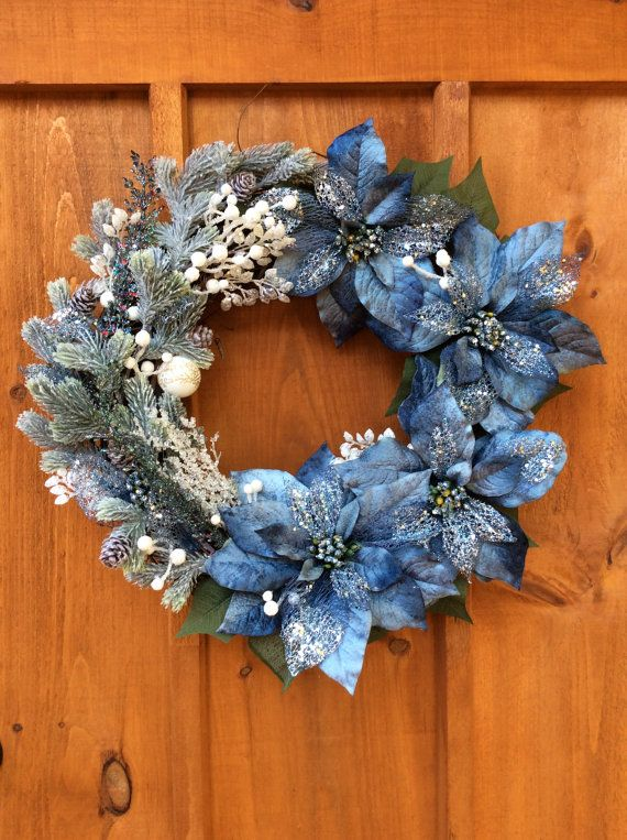 Victorian Wreath, Front Door, Winter, Grapevine Wreath, Wall Decor, Christmas Wreath,Artificial Silk Flowers, Made in Canada