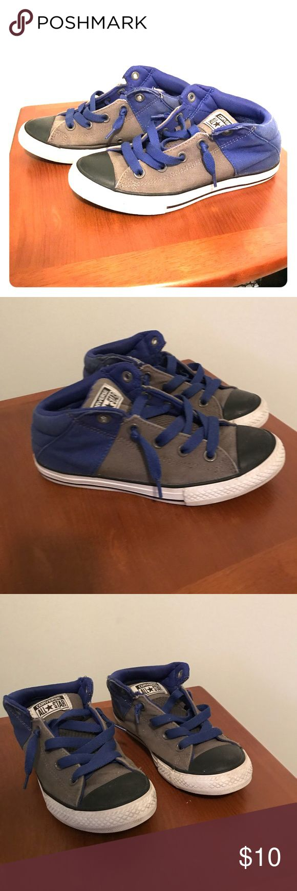 Boys Converse Shoes Boys Converse Shoes Size 3. Good condition, lots of life left for your little trendsetter. Canvas and rubber on soles are all intact, very light wearing around ankle area(shown in photos) Converse Shoes Sneakers