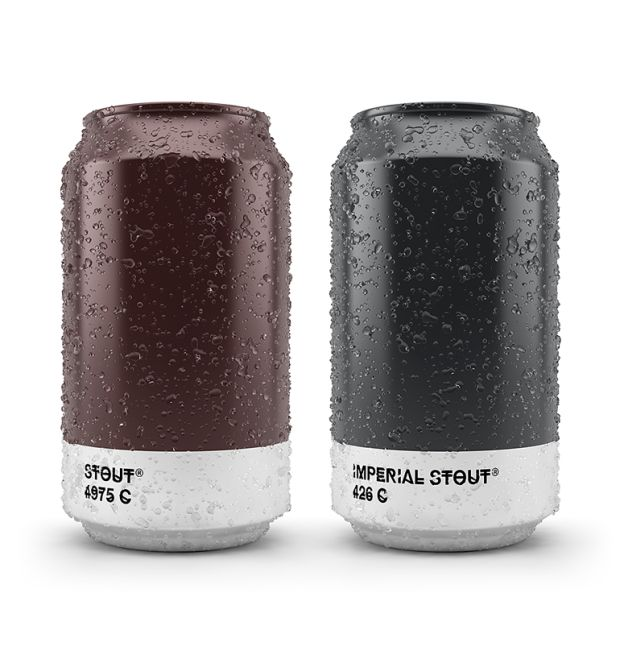 Brilliant Beer Packaging That Uses The Pantone Colour Palette