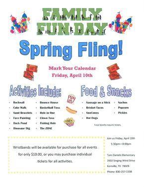 school spring fling flyer template - Google Search