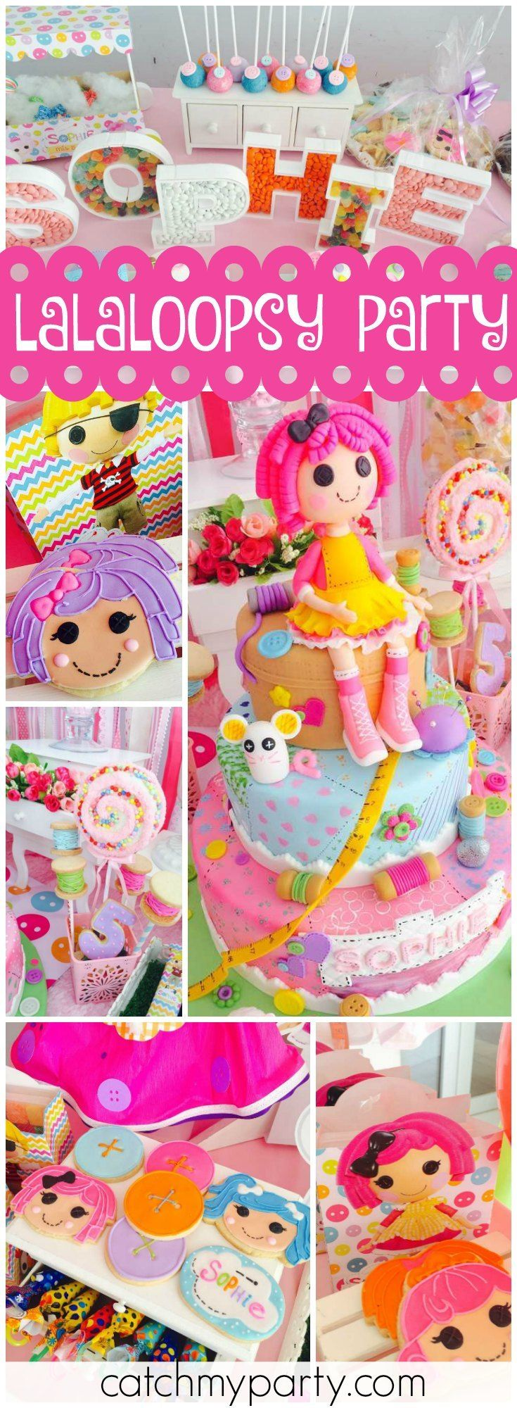 So many adorable ideas at this Lalaloopsy birthday party! See more party ideas at Catchmyparty.com!