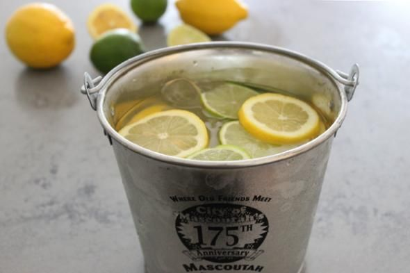 Will definitely be making a gin bucket this summer. A slightly classier version than the classic college beverage. But just as strong (and delicious).