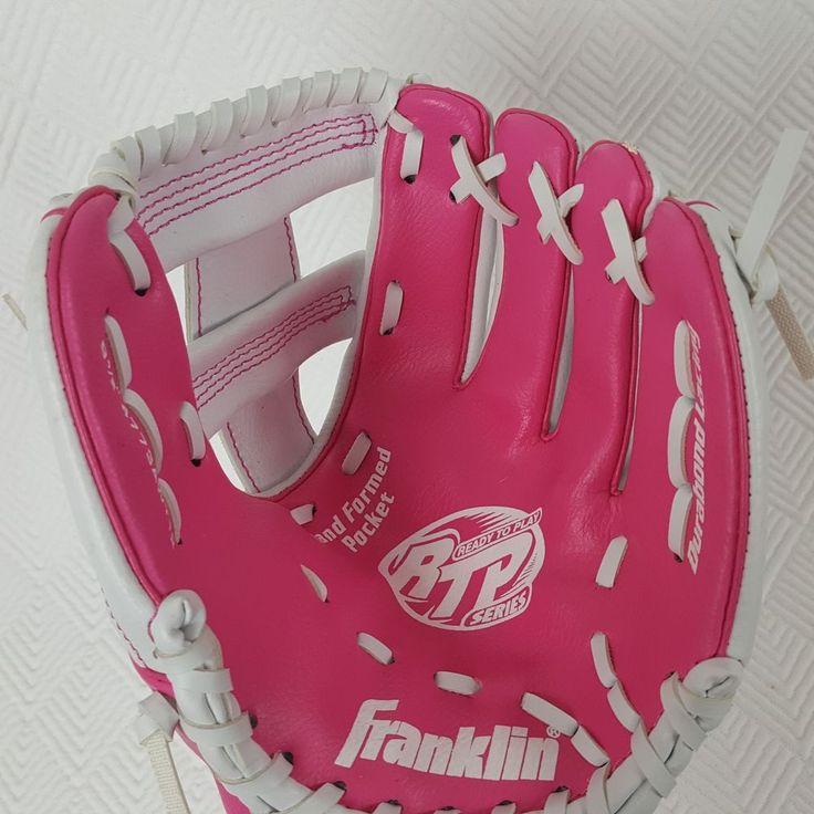 "Franklin RTP Series Girls Teeball Youth Baseball Glove 9 1/2""  Pink Left Hand #Franklin"
