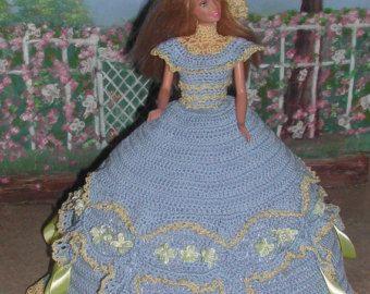 Häkeln Mode Puppe Barbie Pattern 308 Abend von JudysDollPatterns