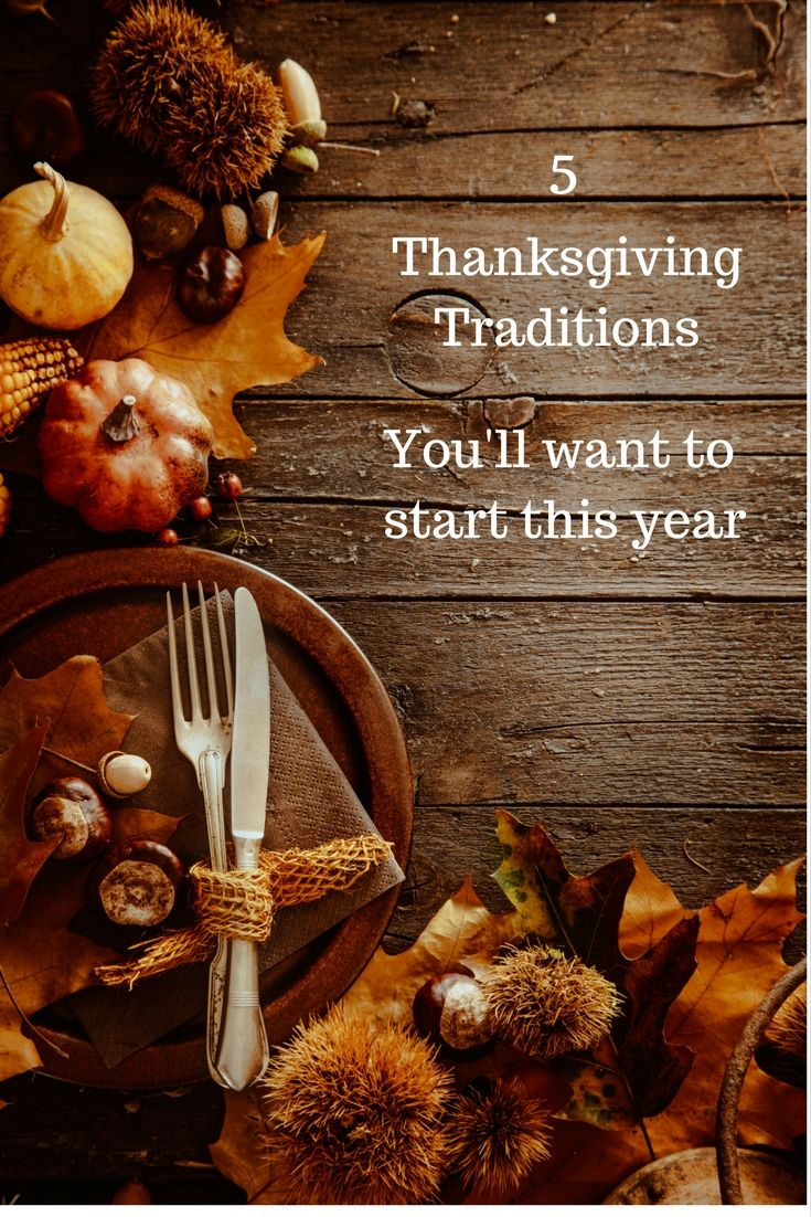 I'm sure there are a number of moments that make the holidays special for you...so much food and family. Here are a few Thanksgiving Traditions you'll love