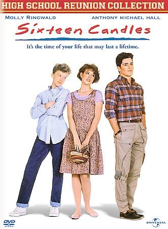 "Sixteen Candles [PN1995.9.C55 S59 2003] A young girl's ""sweet sixteenth"" birthday becomes anything but special as she suffers from every embarrassment possible.   Director:John Hughes Writer:John Hughes Stars:Molly Ringwald, Justin Henry, Michael Schoeffling"