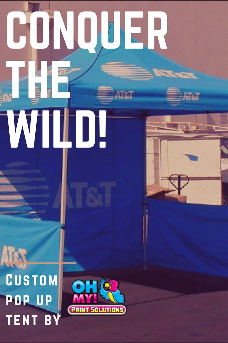 Custom pop up tents are a must for outdoor events. Cover up and protect against both rain and sun all season long! #popuptent #customtent #Canada