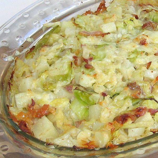 Polish Cabbage, Potato and Bacon Casserole Recipe - Recipe for Polish Cabbage, Potato and Bacon Casserole or Zapiekanka z Kapusta, Ziemniak i Boczek
