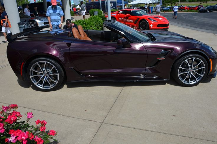 images of black rose corvettes | 2017 Corvette Grand Sport in Black Rose Metallic - MacMulkin Corvette ...