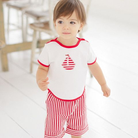 Baby boy set shorts and boat t-shirt – ukookoo