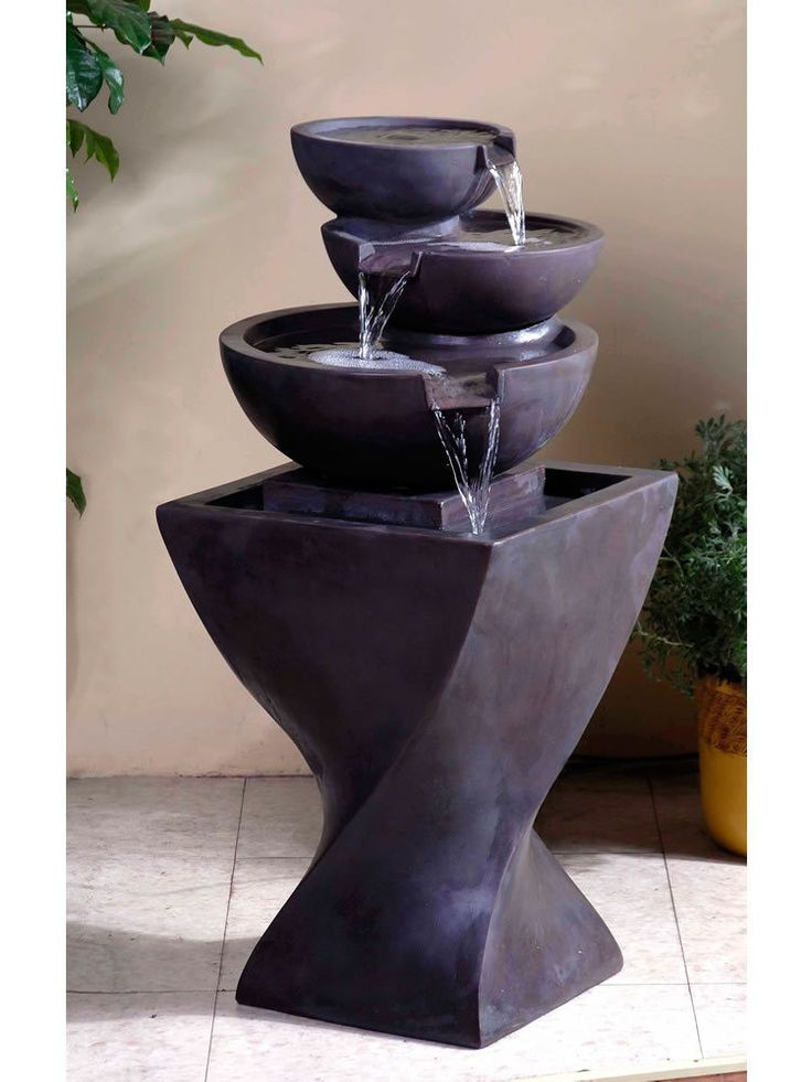 Nice Modern Tier Bowls Indoor Water Fountain