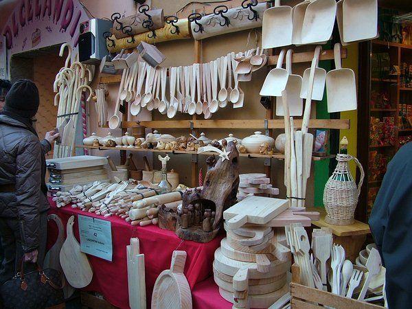 Souvenir Valle d'Aosta - Utensili in legno