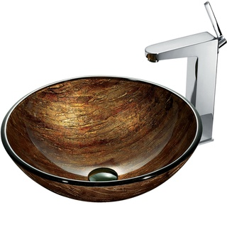 @Overstock - Give your kitchen a unique look with this single-handle vessel sink with faucet. The sink is constructed from solid tempered glass that is non-porous to prevent discoloration and fading. The faucet has solid brass construction and a chrome finish.http://www.overstock.com/Home-Garden/Amber-Sunset-Vessel-Sink-in-Multicolor-with-Chrome-Faucet/6368163/product.html?CID=214117 Add to cart to see special price