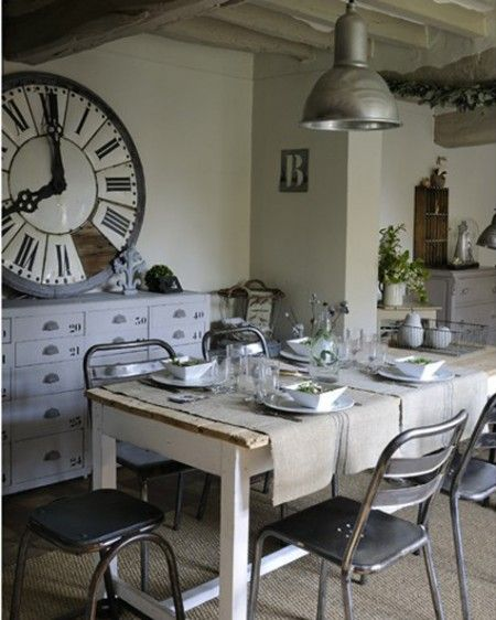rustic-industrial chic dining