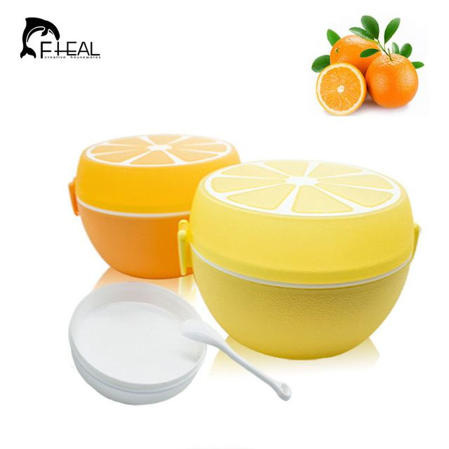 Check lastest price FHEAL Fruit Style Cutlery Plastic Lunch Bento Storage Box For Kids Microwave Bowl Food Container Plate Dinnerware Set just only $6.06 with free shipping worldwide  #dinnerware Plese click on picture to see our special price for you