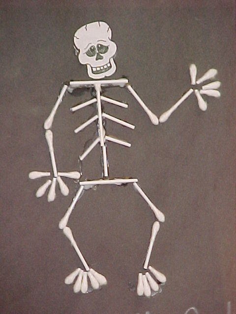 34 best q tips images on pinterest for Q tip skeleton craft template
