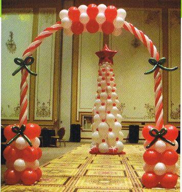 Christmas Party Decor and Christmas Balloon Bouquets ~ Tulsa, Oklahoma