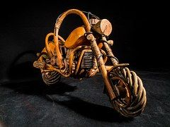 Art Project! Wooden Motorcycle - this is fantastic, I want one! #art