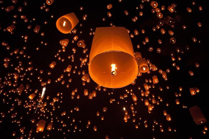 Rice paper lanterns at the Loi Krathong festival in Chiang Mai, Thailand (c) Can Stock Photo Inc. / athousandwords