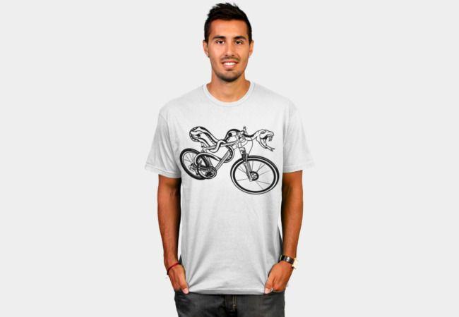Snake Riding A Mountain Bike T-Shirt - Design By Humans
