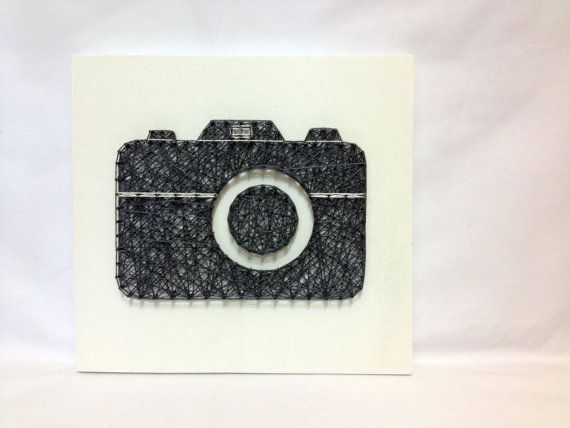 String Art Digital SLR Camera DSLR Wall Art Home Decor