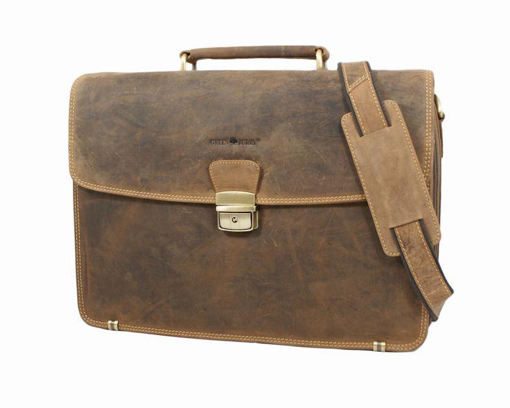 Teczka na laptop Greenburry 1718-25 z kolekcji Vintage Oryginal.  Świetna organizacja w środku teczki. Teczka dostępna w sklepie ineternetowym: www.grrenburry.pl