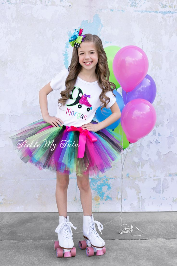 Roller Skate Themed Birthday Tutu Outfit-Skating por TickleMyTutu