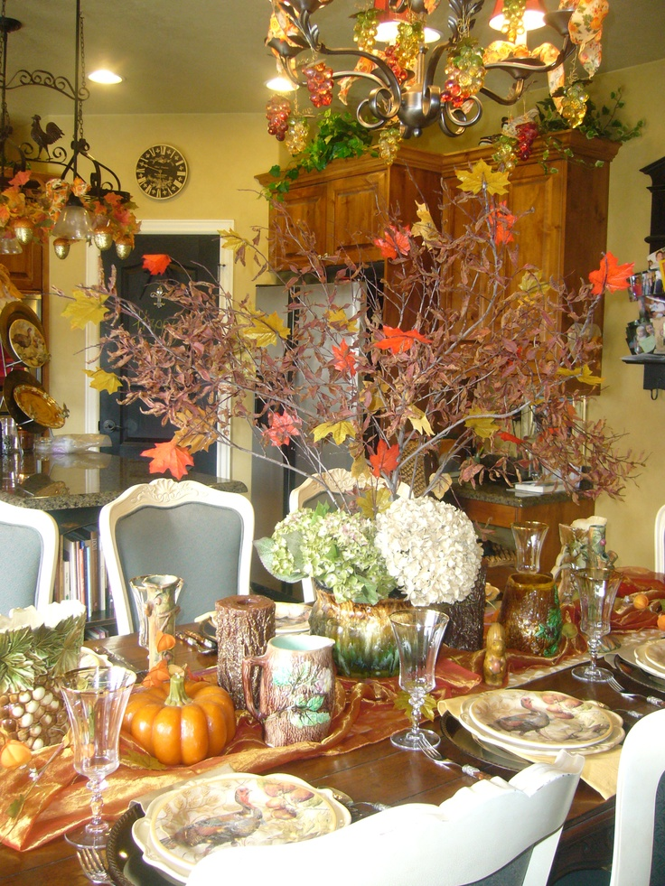 Thanksgiving Table Decor Table Decorations Pinterest
