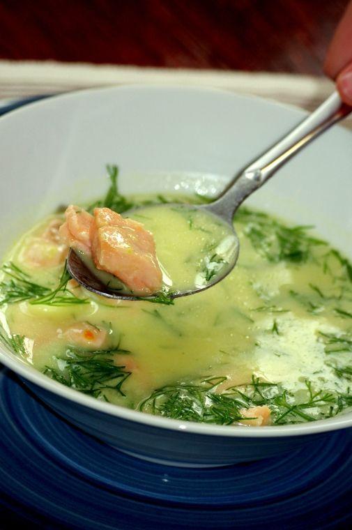 Zupa Norweska Z Łososiem - koniecznie muszę ją zrobić !!!!!!!!!