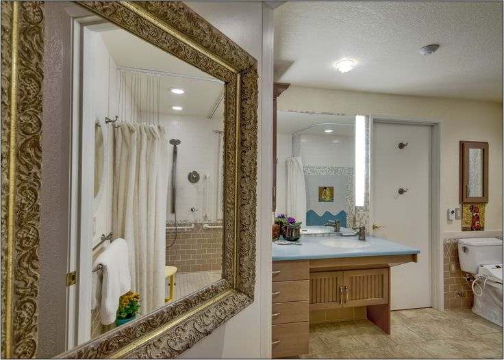 A Pretty And Functional Bathroom Remodel For Elderly Parents By Chermak  Construction, Featuring Universal Design Elements Such As Barrier Free  Shower, ...