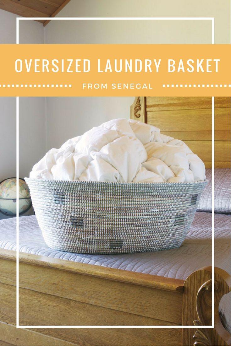 Senegalese Oversized Oval Laundry Basket