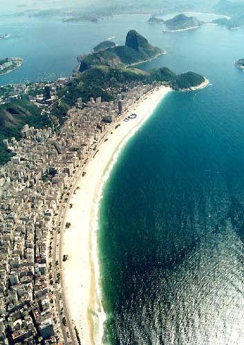 Copacabana Beach (Rio de Janeiro, Brazil). love to visit a friend who
