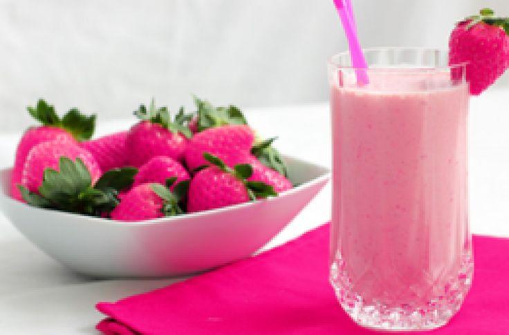 De PINK smoothie - een gezonde milkshake!