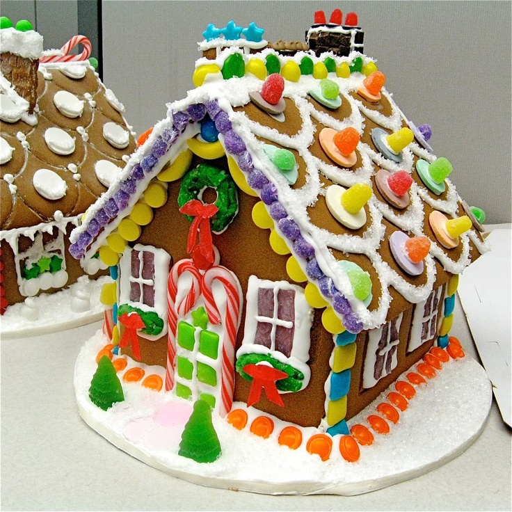 how to draw a cute gingerbread house