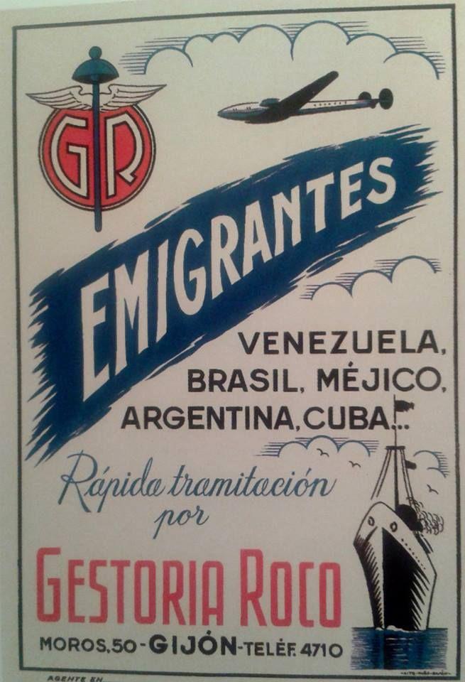 Anuncio de la GESTORIA ROCO, de Gijón, en 1940