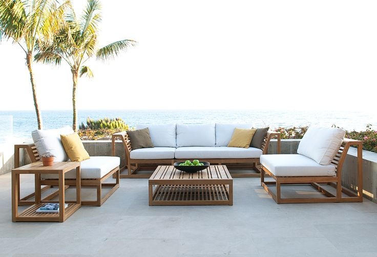 Maya Teak Sectional Furniture Ottomans And Side Tables