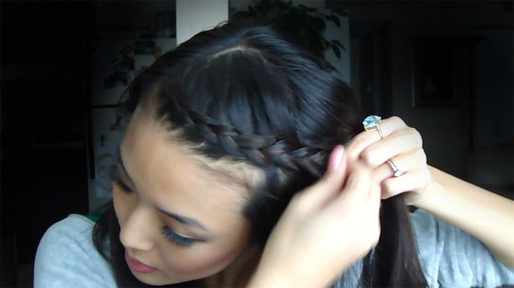 From Head To Toe: Dutch Braided Bangs Tutorial. This works great for short bangs!