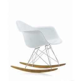 Eames Plastic Armchair RAR gyngestol HVIT