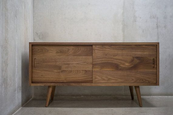 Solid Black Walnut Sideboard/ Credenza by solidwoodlimited on Etsy