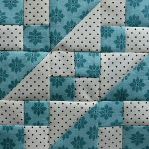 """This was an easy block, squares and half square triangles are a safe harbour. Railroad But I like it very much. It's so inspiring to see what you can make out of two """"simple"""" forms. Next up will be..."""