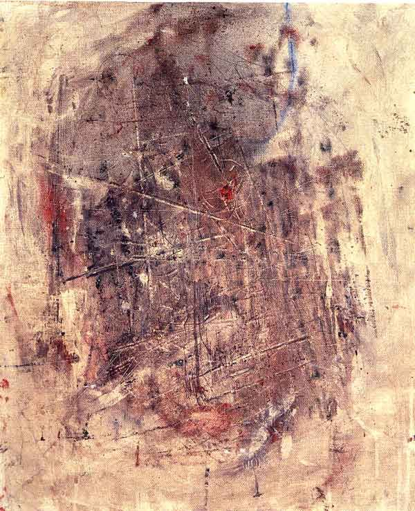 Wols was the pseudonym of Alfred Otto Wolfgang Schulze (May 27, 1913- September 1, 1951), a German painter and photographer predominantly active in France. Noted for his etchings and for his use of stains (taches) of color dabbed onto the canvas (as exemplified by his painting Composition, c. 1950), Wols pioneered a new style of expressive abstraction. Though unrecognized in his lifetime, he is considered one of the most influential artists of the Tachisme movement.