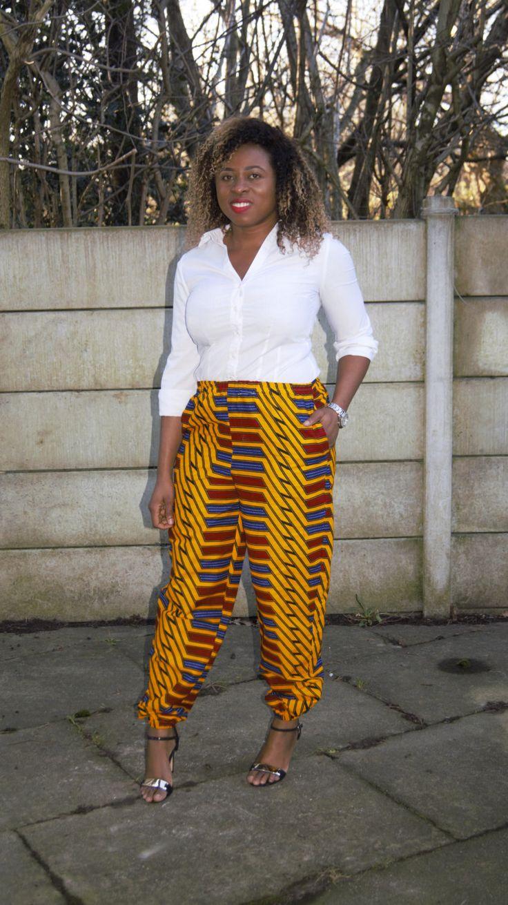 high waist trouser, ankara trouser, ankara pants, african print, african print trouser by MADKollection on Etsy