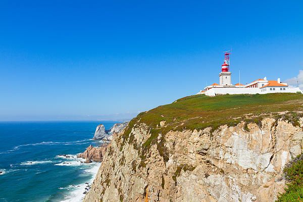 Cabo da roca cape, most western part of Europe at sunny day, Portugal by Anastasy Yarmolovich #Portugal #AnastasyYarmolovichFineArtPhotography  #ArtForHome
